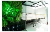 Espacio coworking con sala reuniones y patio interior